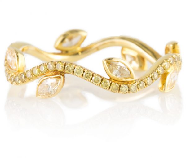 , Canary Yellow Diamond Band in 18K