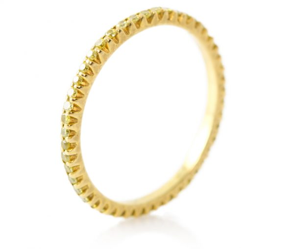 , 0.30CTTW Intense Fancy Yellow Diamond Eternity Band Vivaan Collection