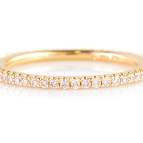 , Petite Diamond Stackable Band 18K White Gold