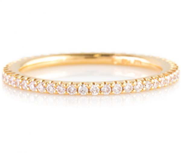 , Pink Diamond Eternity Band in 18K