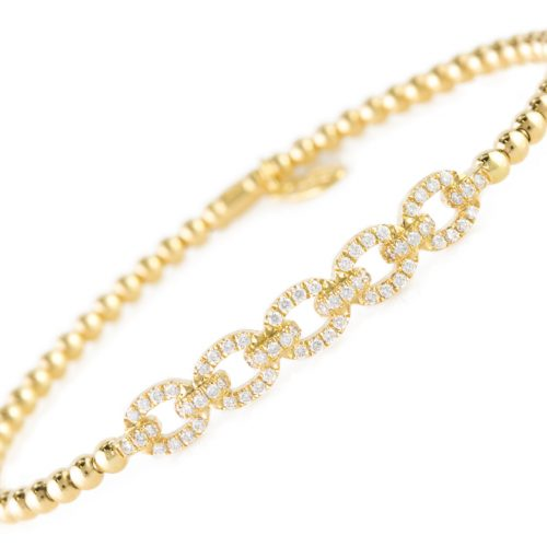 , Diamond Bar Bracelet in 18K Yellow Gold