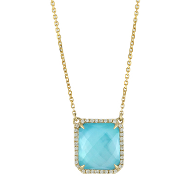, St. Tropez Diamond Pendant & Chain in 18K Yellow Gold
