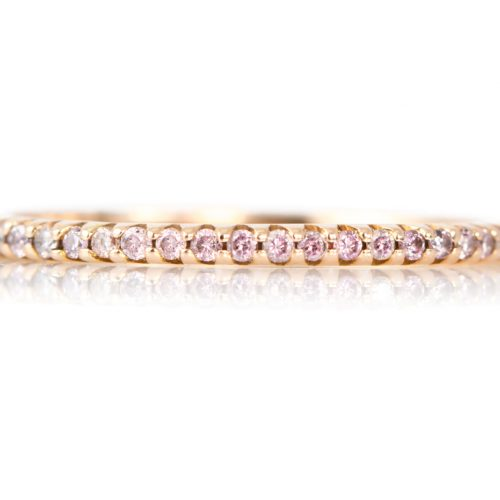 , 18K Pink Gold Diamond Hoops 1.5""