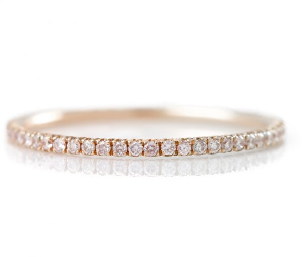 , Rose Gold Diamond Eternity Band