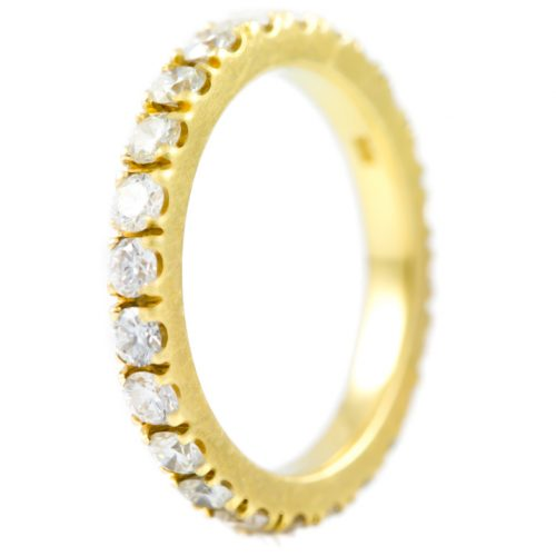 , Diamond Eternity Band in Pink 18K Gold