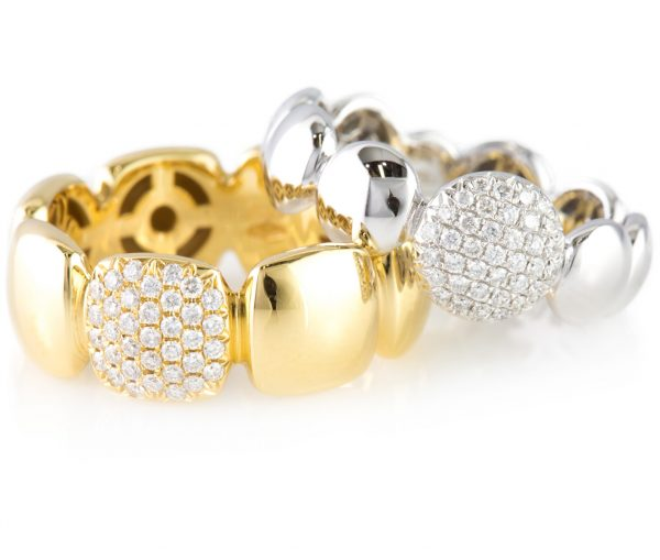 , Fashion Diamond Band in 18K White Gold