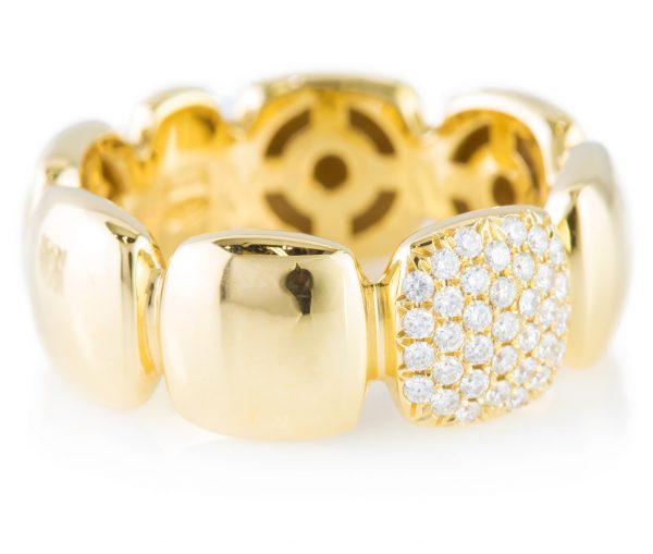Fashion Diamond Band in 18K Yellow Gold, Fashion Diamond Band in 18K Yellow Gold