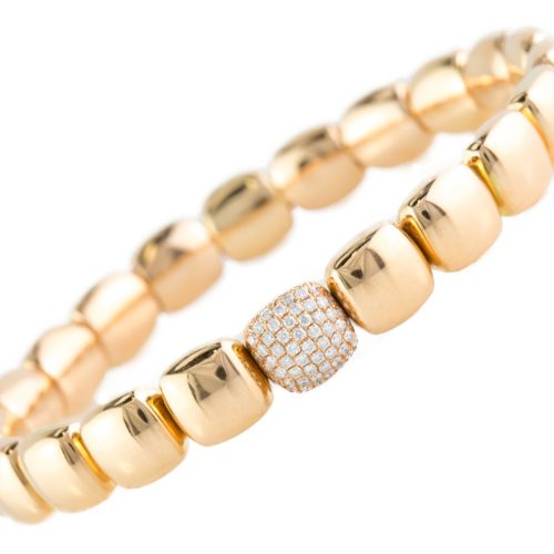 , 18K Rose Gold Bracelet with Diamonds