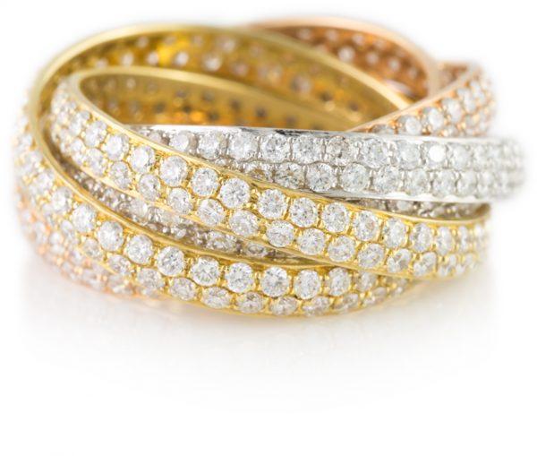 , 6.59 Carat Diamond Rolling Ring