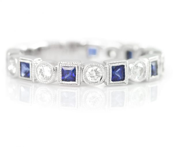 , Sapphire and Diamond Eternity Band