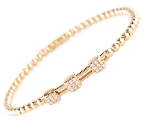 , Diamond Slide Bracelet in 18K Rose Gold