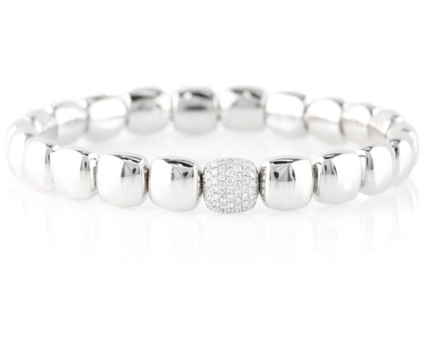 , 18K White Gold Bracelet with Diamonds