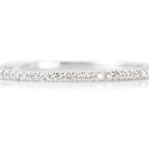 , Diamond Band 18 KT White Gold