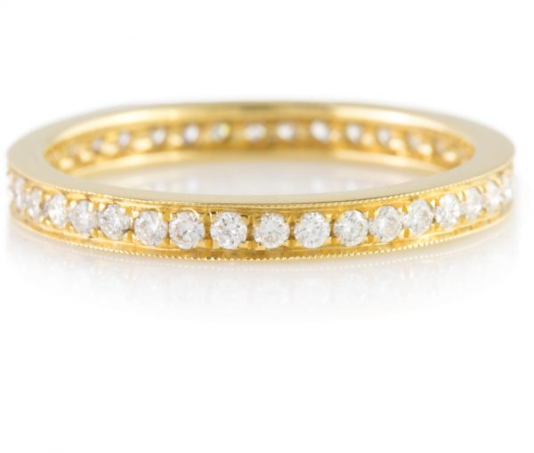 , Yellow Gold Eternity Band in 18K