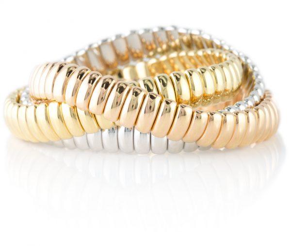 , Italian Rolling Bracelets 18K Gold