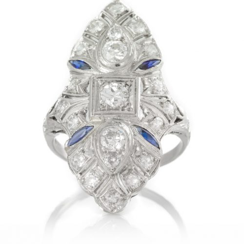 , Sapphire Ring set in 18KT White Gold