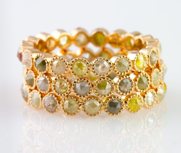 , 1.29 Carat Multi-Color Diamond Band in 18K Vivaan Collection
