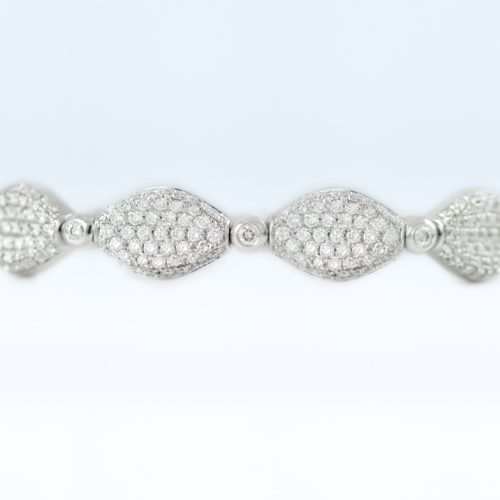 , 2.35CTTW White Gold Diamond Cuff