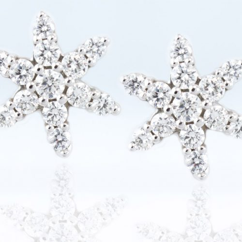 , 0.70CTTW Star Earrings