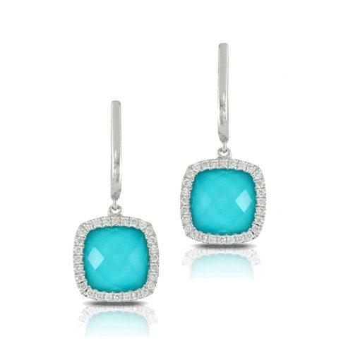 , St. Barths Blue Turquoise Diamond Ring
