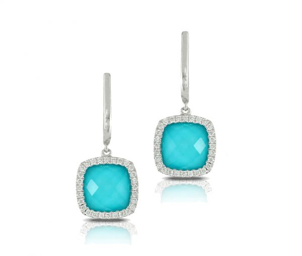 , St. Barths Blue Turquoise Earrings