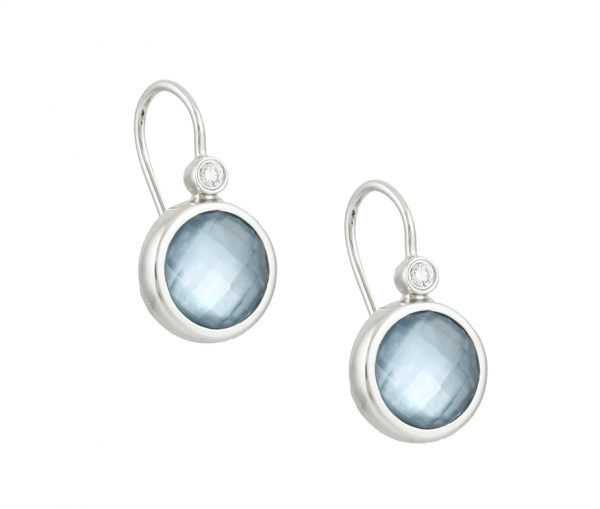 , Lapis and Mother of Pearl Earrings