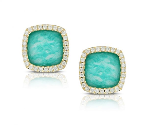, Amazon Breeze Studs with Diamond Halo
