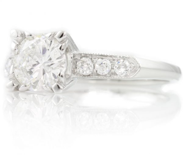 , 1.20CTTW Diamond Engagement Ring in Platinum