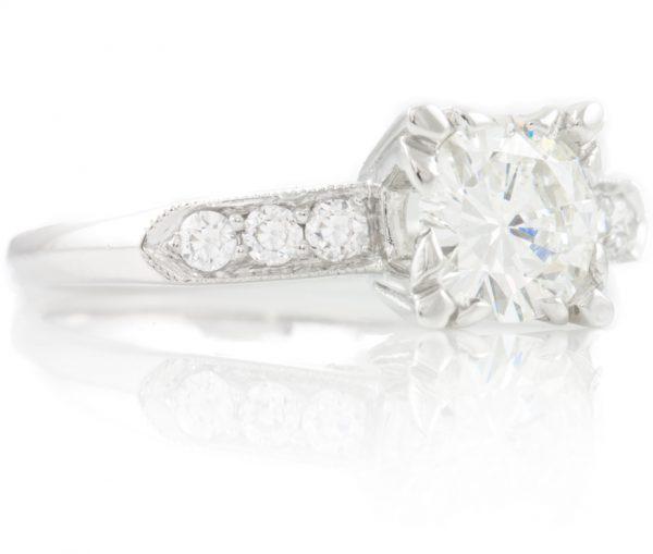 , 1.20CTTW Diamond Engagement Ring in Platinum