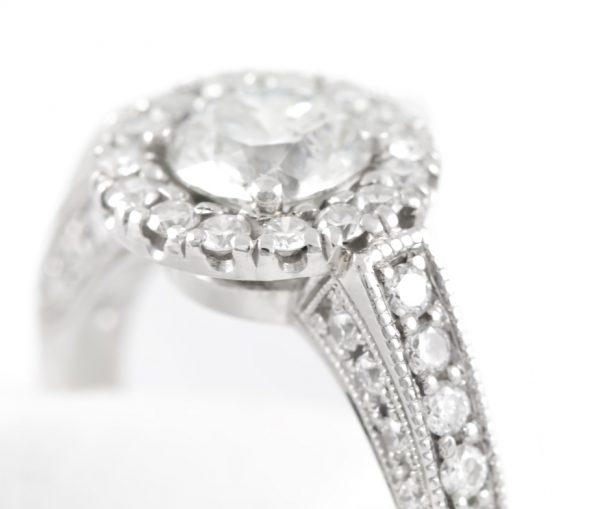 , 1.50CTTW Diamond Engagement Ring in Platinum