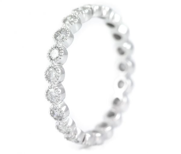 , Eternity Band in 14K White Gold