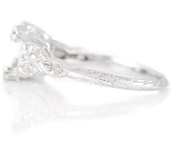 , 0.60CTTW Marque Diamond Engagement Ring in Platinum