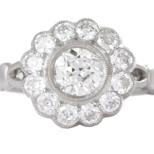 , Art Deco 2.60 Carat Diamond Platinum Ring