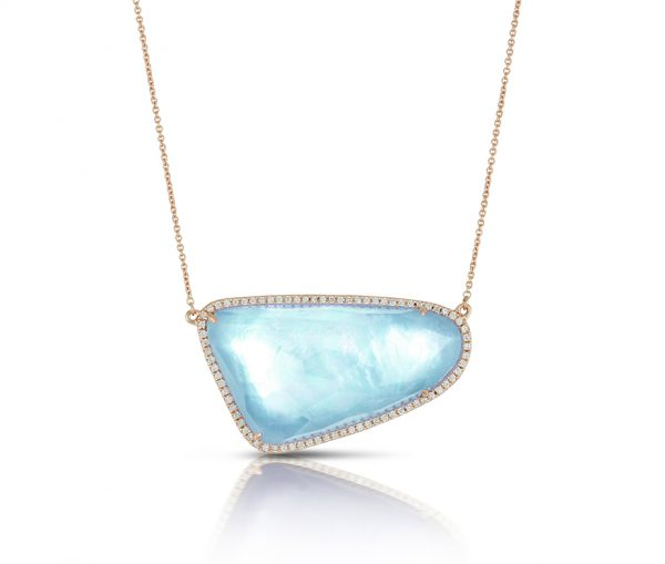 , Ocean Mist Diamond Pendant and Chain