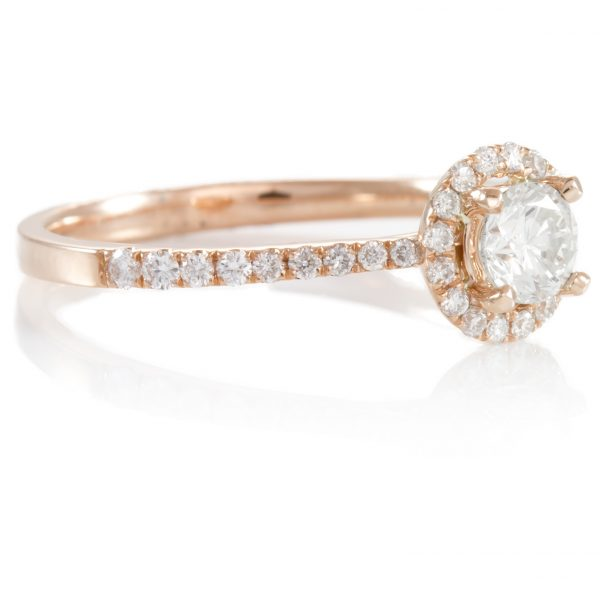 , 0.62ctw Rose Gold Engagement Ring 14K