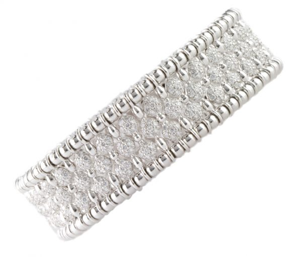 , 5.07ct Diamond Bracelet 18K White Gold