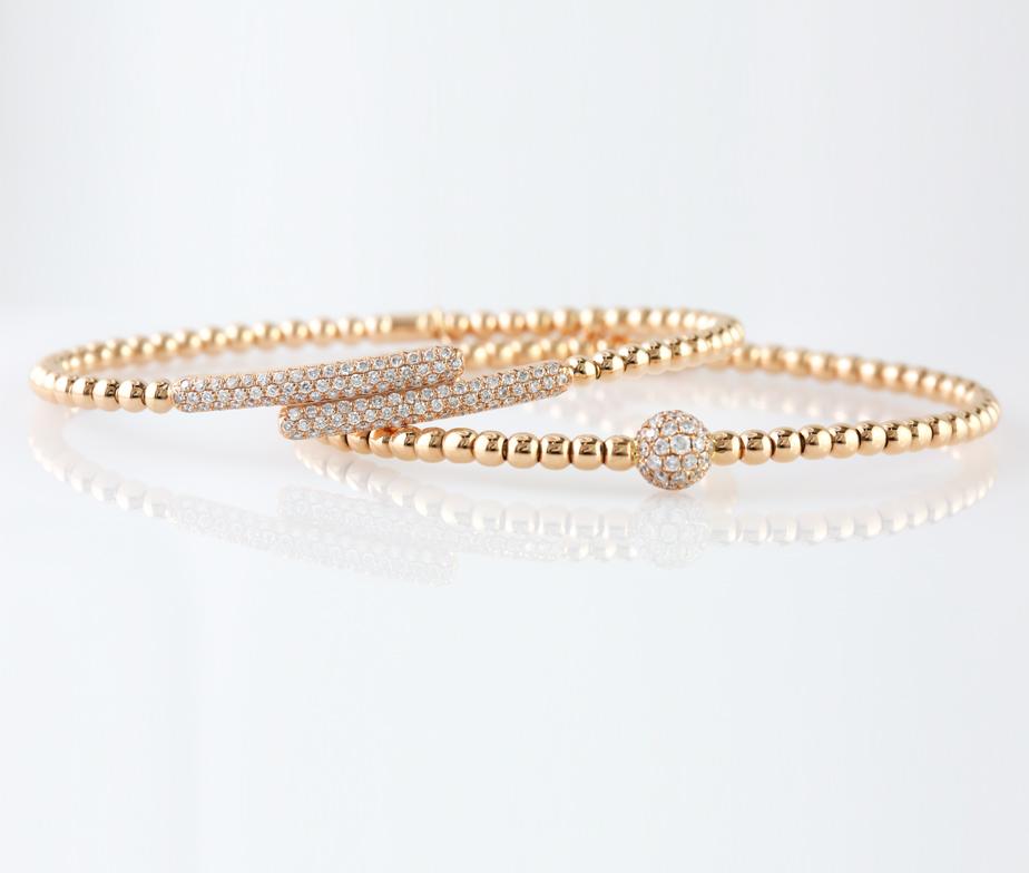Italian Diamond Stretch Bracelet In 18k
