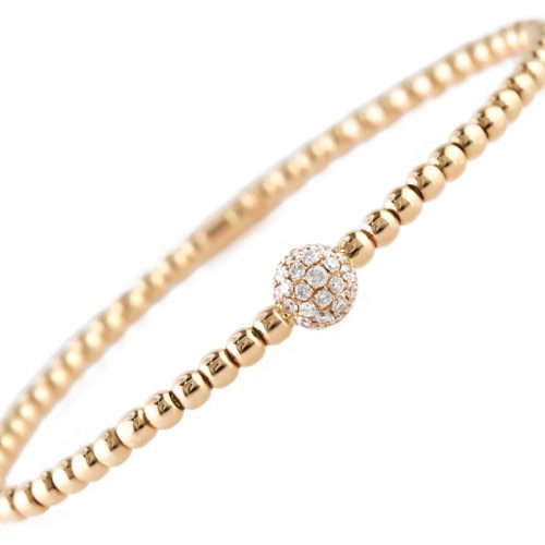 , Italian Diamond Stretch Bracelet – Globe