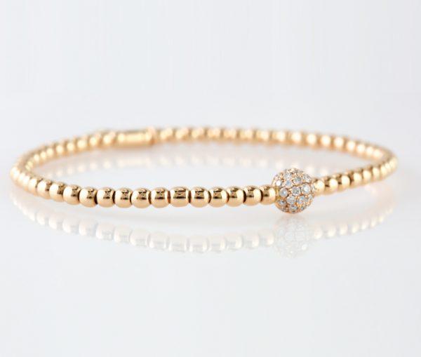 , Italian Diamond Stretch Bracelet – Globe