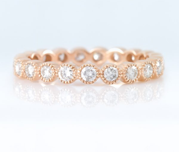 , Rose Gold Eternity Band 14K