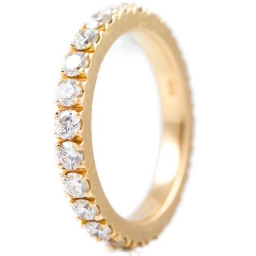 , Rose Gold Diamond Eternity Band in 18K Gold