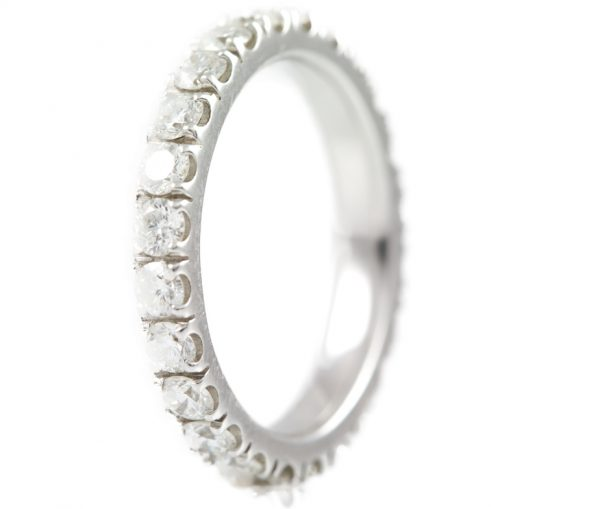 , Diamond Eternity Ring in White Gold 18K