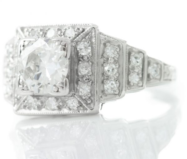 , Vintage Platinum Diamond Ring