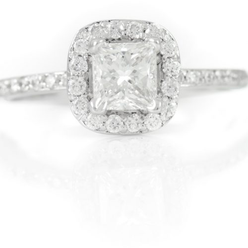 , 18kt White Gold Diamond Engagement Ring