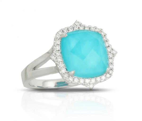 , St. Barths Blue Turquoise Diamond Ring