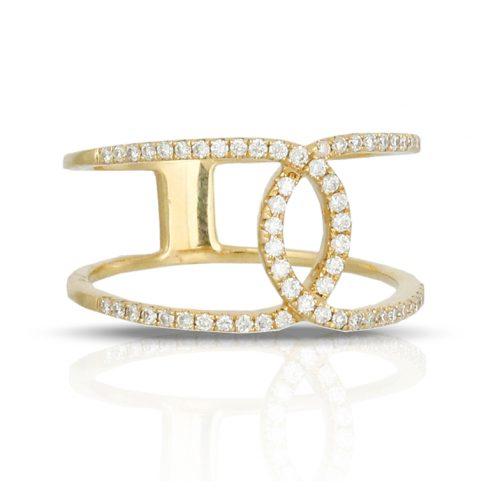 , Gatsby Onyx Bracelet in 14K Yellow Gold