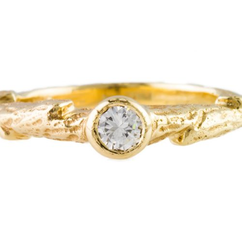 , Custom 14kt Gold Stackable Diamond Ring