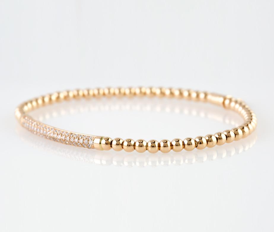 Miriams Jewelry Italian Diamond Bar Bracelet Rose Gold Miriams Jewelry