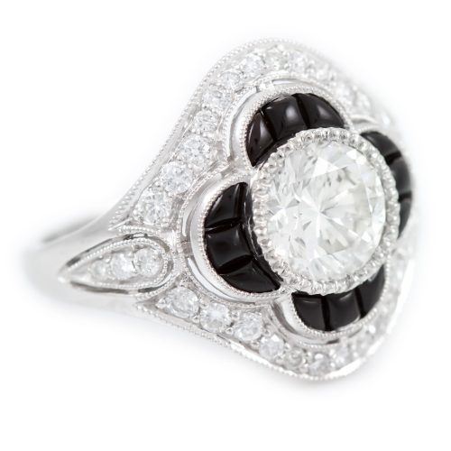, Art Deco Platinum Ring