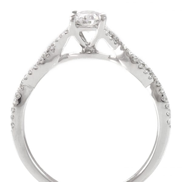 , 0.55ctw Oval Diamond Engagement Ring